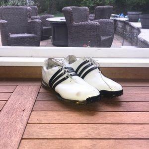 Adidas Men's Adipure White/Black Golf Shoes